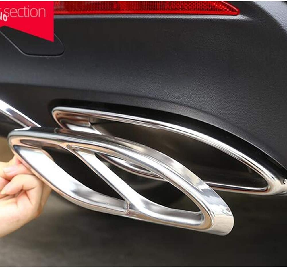 LCRAKON 1 Paar Auto-Auspuffrohr-Abdeckungen F/üR Mercedes Benz A Class W177 2019-21 Auspuffausg/äNge Heckrahmenverkleidung Edelstahl-Endrohr Hinten Entl/üFtungsgeh/äUse Schalld/äMpfer-Auspuffblenden