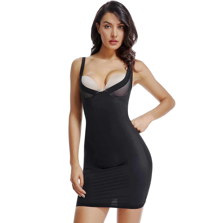 73f924574b8b8 Joyshaper Body Full Slips Shaper Women Black Nude Long Camisole Bodycon Underwear  Dress Underdress Shaping Control Underwear Seamless Slimming Nightwear ...
