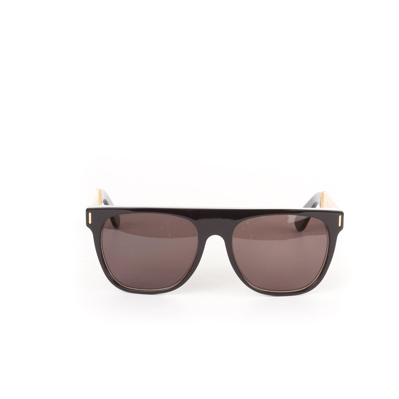 970b20a6a8b5 RETROSUPERFUTURE Flat Top Francis Black/Gold Large Sunglasses SUPER-NIM:  Amazon.co.uk: Clothing