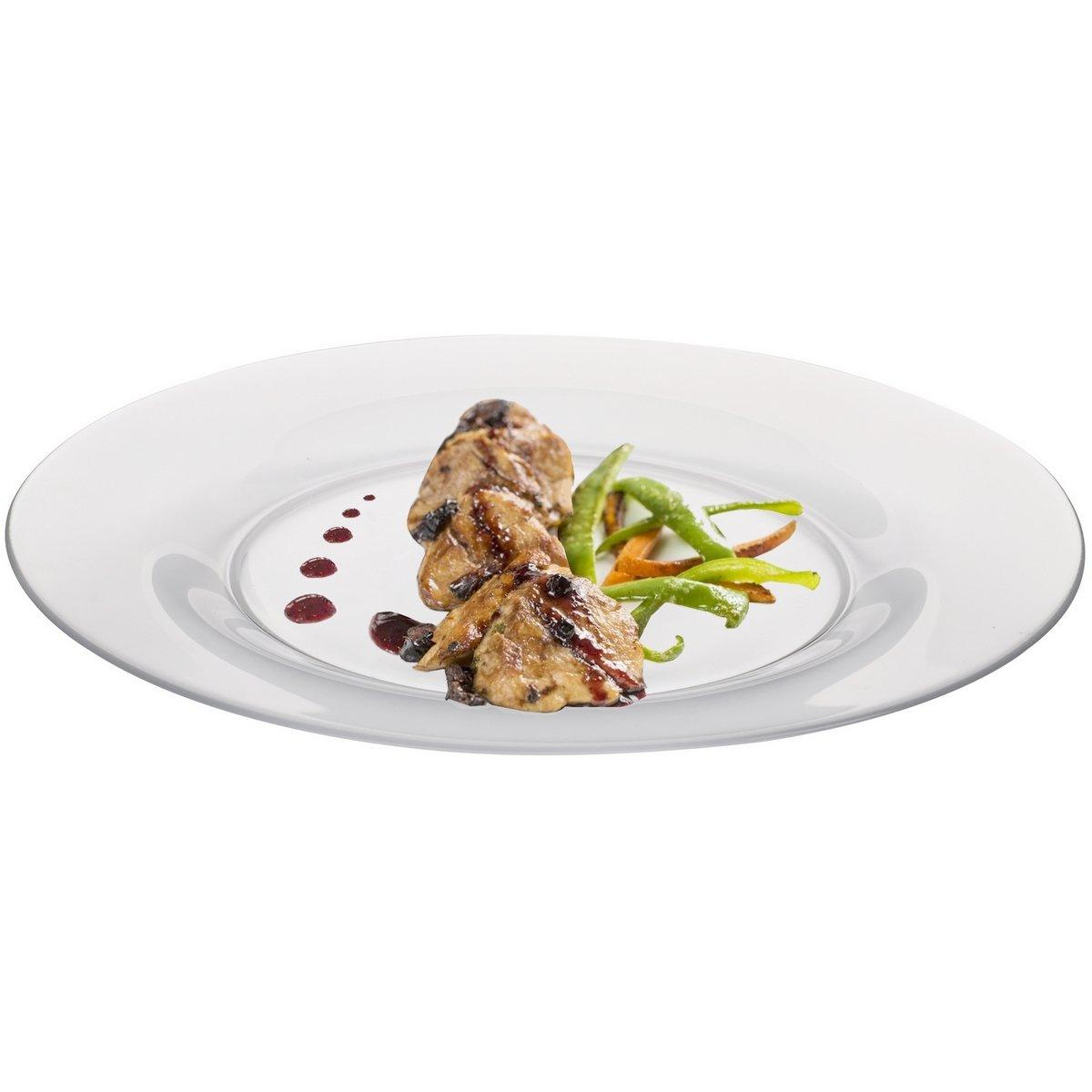 Promobo Lot Ensemble 12 Assiettes Ronde Luminarc Pr/ésentation Gastronomique Transparente 25cm