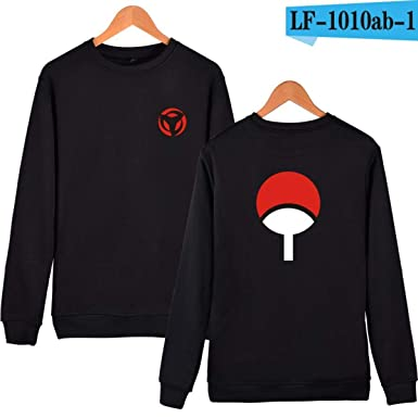WEEKEND SHOP Hoodie Naruto Anime Hoodies Sweatshirts Hoodies Men Uchiha Syaringan Clothes Black
