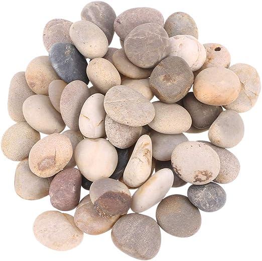 SUPVOX Pintura 50pcs Rocas Rocas Lisas Pintura bondad Rocas Piedras de Cantos rodados para Pintar Manualidades Bricolaje: Amazon.es: Jardín