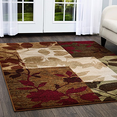 Home Dynamix Tribeca-Rug-3-Piece-Set-HD5282-999 Amelia Modern Area Rug, 3 Piece Set, Beige/Green/Red