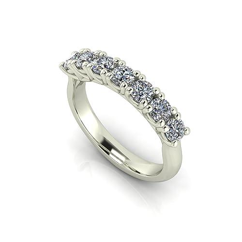 ef1241490e8775 Sayes AM. Shop Anello Veretta con diamanti tot 1 ct in Oro Bianco 18 ...