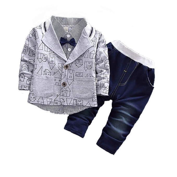 67abe768300c0 Amazon.com: Baby Boys Clothing Sets Toddler Little Gentleman Blazer ...