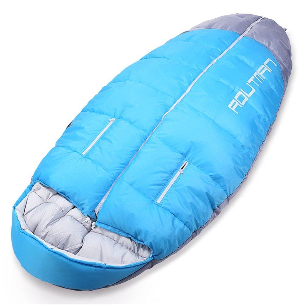 OUTDOOR COCO Im Freien erreichen, schlafende Tasche wasserdichte kampierende erwachsene Zunahme erweitern übergroße Ausrüstung (Farbe : Lake Blau)