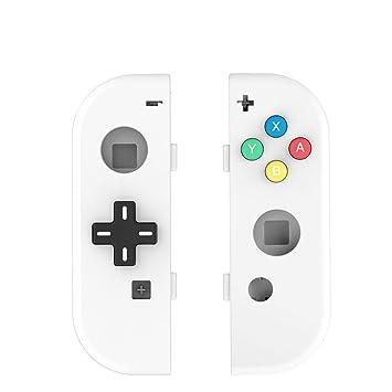 Myriann Translúcido NS Joycon Controlador de mano Carcasa con D-Pad botón DIY Reemplazo de Shell Case para Nintendo Switch Joy-Con (L / R) sin ...