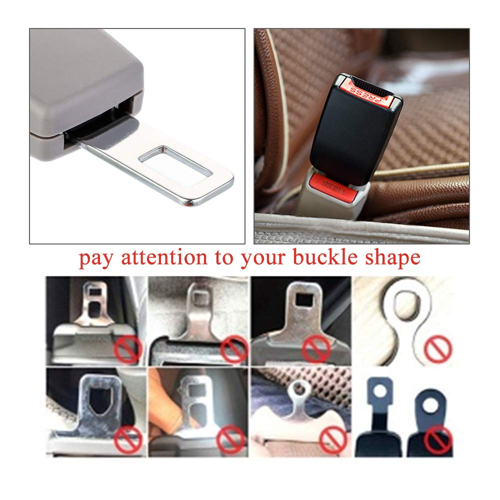 Seatbelt Buckle Extensions for Obese Men Pregnant Women Child Safety Seats Seat Belt Extenders 3 Packs, Beige