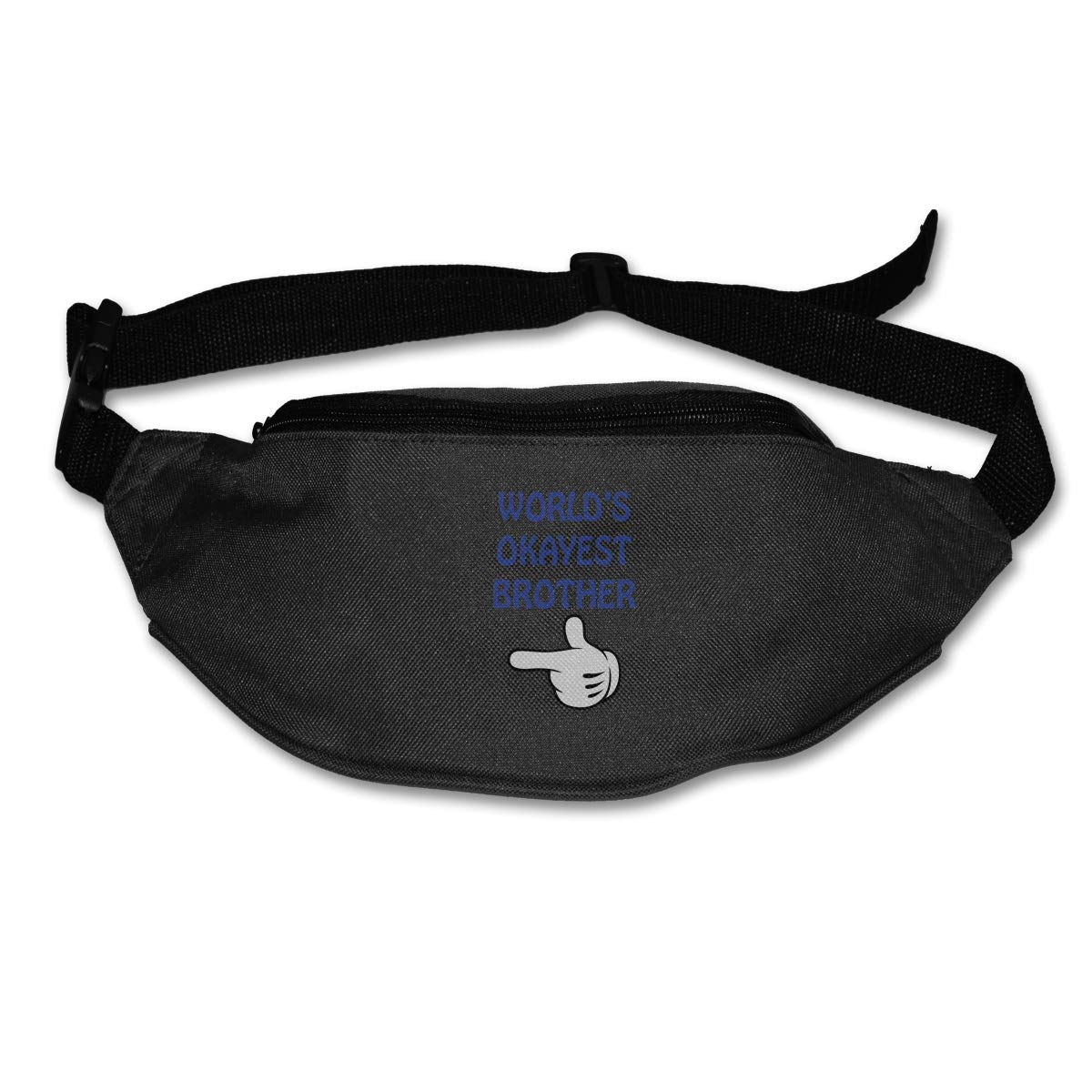 Worlds Okayest Brother Sport Waist Pack Fanny Pack Adjustable For Run