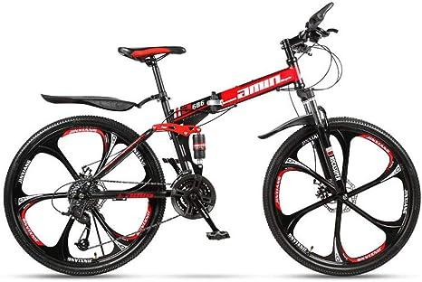 ZJDU Bicicleta Doble De Freno De Disco,Bicicleta De Montaña Offroad para Adolescentes Adultos,Bicicletas MTB De Suspensión Completa,Bicicleta Plegable: Amazon.es: Deportes y aire libre