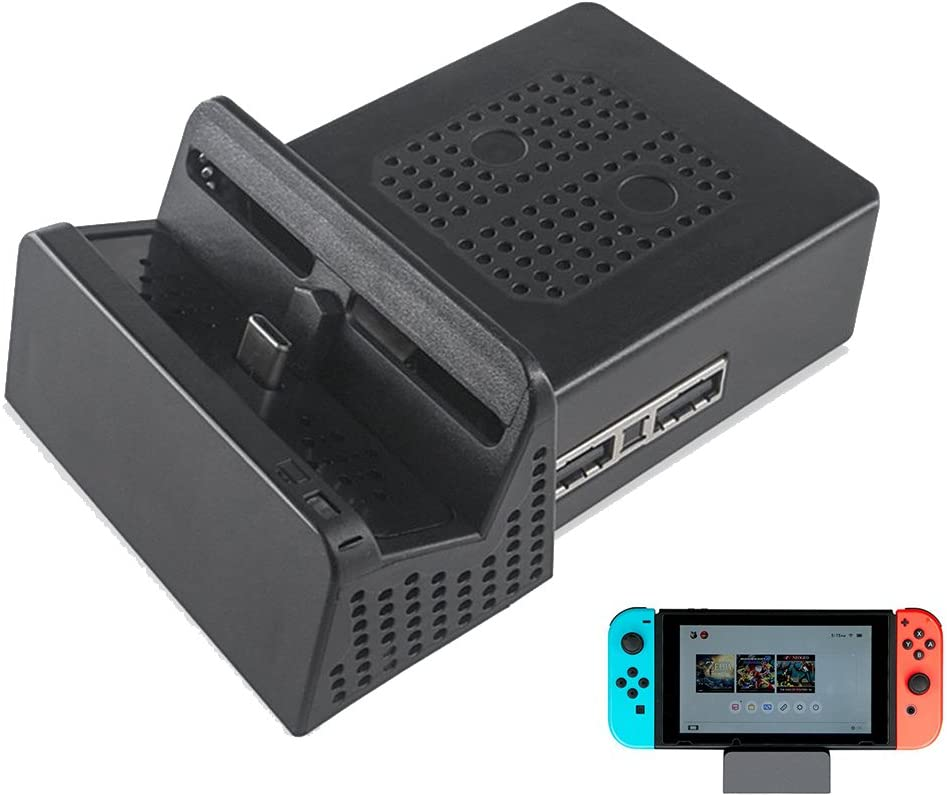 nintendo switch dock funda TopACE Chip incorporado Light Compact Portable Replacement Dock for Nintendo Switch (Negro): Amazon.es: Electrónica