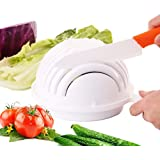 Just New Design Salad Bowl Vegetable Fruit Salad Cutter Bowl -- Finish Your Salad in 60 Seconds