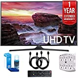 Samsung UN55MU6290FXZA Flat 54.6 LED 4K UHD Smart TV (2017 Model) with 1 Year Extended Warranty, Professional Screen Cleaning Kit, and Two (2) 6 Foot HDMI Cables Bundle