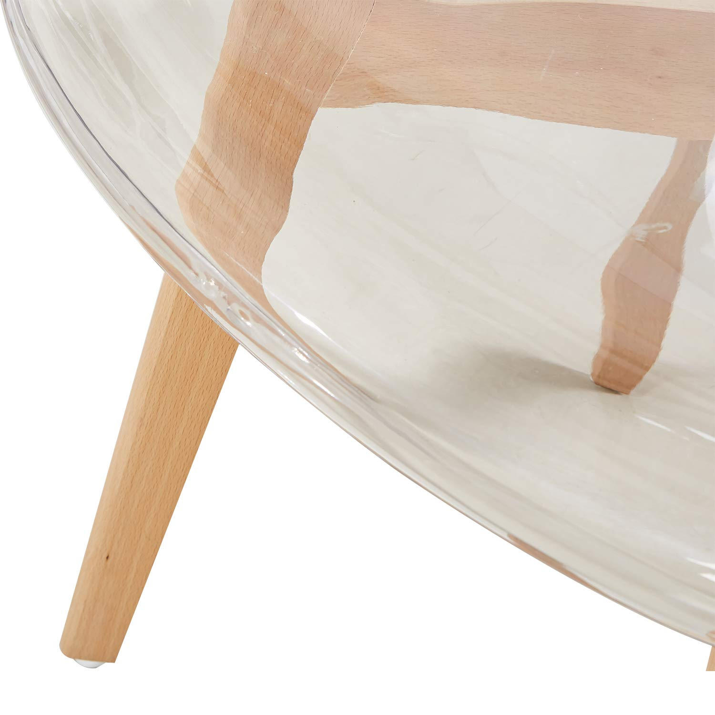 Eggree 4er set transparent sessel skandinavisch esszimmerstuhl modern wohnzimmer ebay - Esszimmerstuhl skandinavisch ...