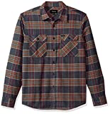 The bowery is a standard-fit long-sleeve flannel with dual chest pockets.