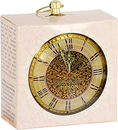 Tipson | Ornament Tea Clocks | Pure Ceylon Green & Black Tea filled Clocks | Perfect for Holiday gifts, Christmas, Santa Claus, Hostess gifts, New Year party, Stocking Stuffers | Pack of 3
