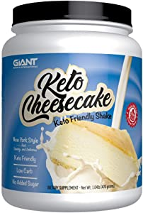 Keto Cheesecake - Delicious Low Carb, Ketogenic Diet Gluten Free Shake Mix – New York Style - 20 Servings