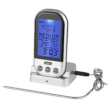 parsion a distancia inalámbrico Digital de horno termómetro de carne doble sonda para Griller Fumeur barbacoa