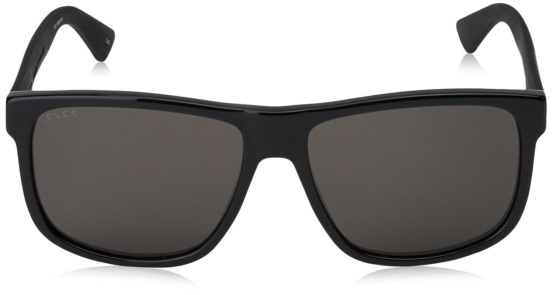 1adc77a7619 Amazon.com  Gucci GG 0010 S- 001 BLACK GREY Sunglasses  Gucci  Clothing