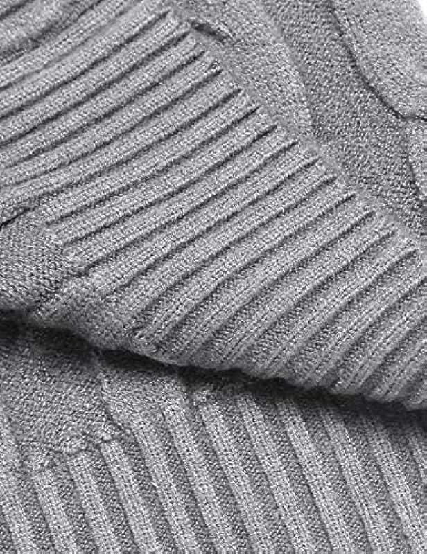 JINIDU Męskie Slim Fit Rollkragenpullover Casual Twisted Strickpullover Sweater: Odzież