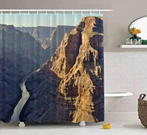 Capsceoll Wide Shower Curtain, Bathroom Shower Curtain Grand Canyon Viewed from The Air USA 72X78 Inches with Hooks Fabric Bath Shower Curtain