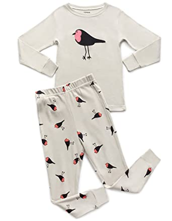 a8b880857adb Amazon.com  Leveret Kids   Toddler Horse Bird Girls Pajamas 2 Piece ...