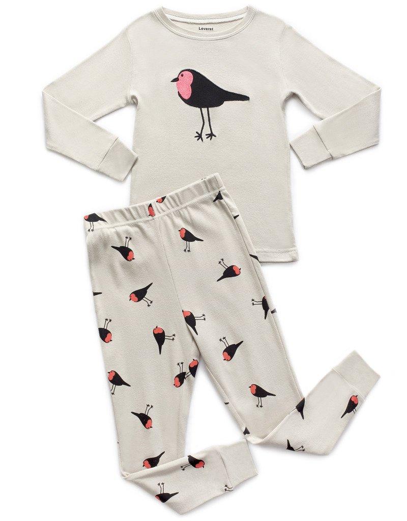 Leveret Birds 2 Piece Pajama 4 Years