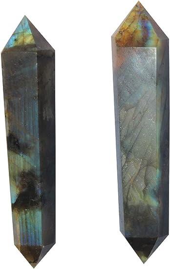 Crystal Grid Labradorite Wand! Labradorite Double Terminated Wands Pagan Wand Large Labradorite Chakra Reiki