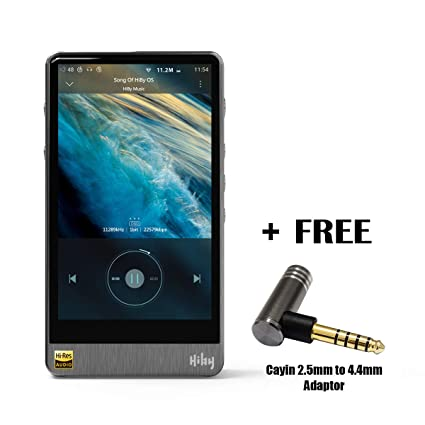 HiBy R6 Pro Portable Hi-Fi Music Player Hi-Res Audio Player Bluetooth MP3  Player (Stainless Steel) with Cayin 2 5mm to 4 4mm Adaptor