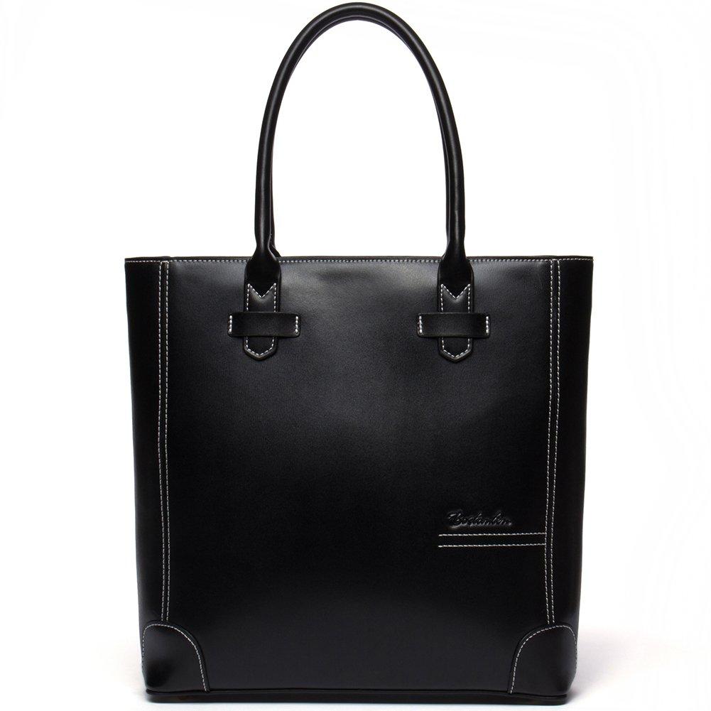 820debd91763 BOSTANTEN Genuine Leather Handbag Tote Purse Bag for Women Black