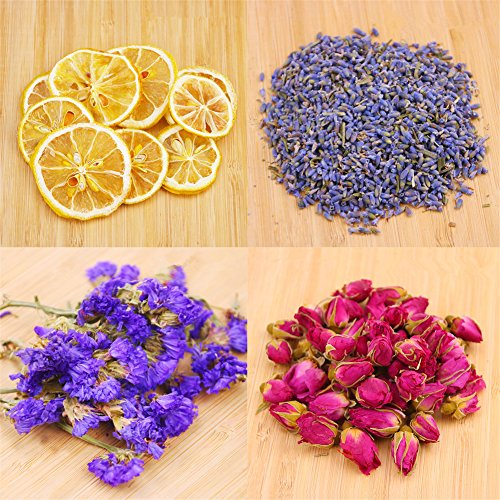 Naturally Dried Flowers,Candle Making, Soap Making,DIY Soap, 100% Pure Nature Flowers, AAA Food Grade, Rose Flowers, 4 Bags Naturally Dried Flowers