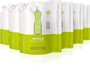 Method Dish Soap Refill, Lime Plus Sea Salt, 36 Fl Oz (Pack of 6)