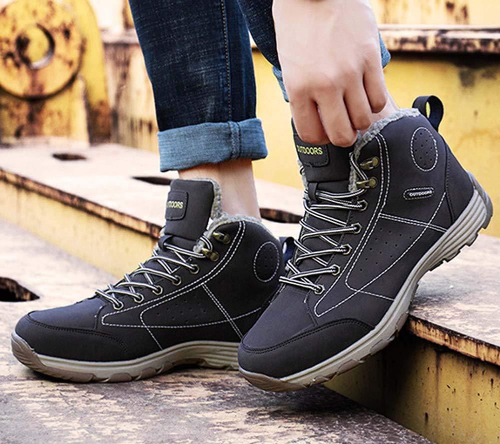 HYLFF Los Hombres de Altura Botas al Aire al Libre Antideslizante Zapatos de Trekking con Cordones al Aire Aire Libre Zapatos Deportivos, Senderismo Escalada Trekking,Marrón,46EU 31a4b9