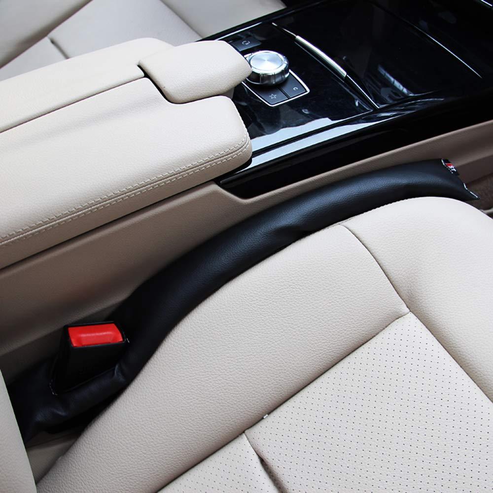 Asiento de seguridad para el coche negro Interruptor de relleno Interruptor Accesorios interiores Interior de cuero PU Auto Asiento del asiento Separador de relleno Gap Spacer Relleno (2 piezas) Fliyeong