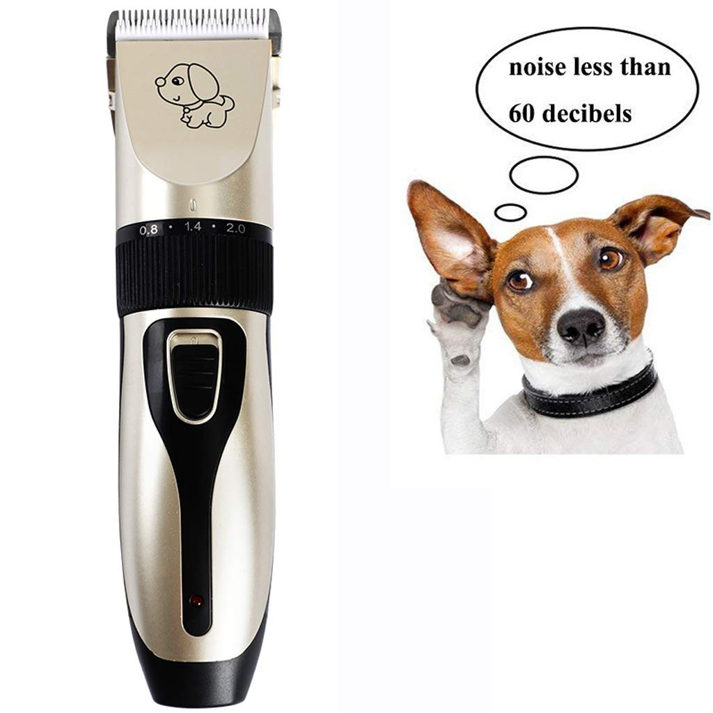Dog Grooming Clippers  Low Noise Rechargeable Cordless Pet Clippers Professional Dog Hair Trimmer Grooming Kit