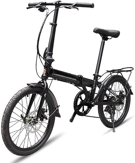XWDQ Bicicleta De Montaña Bicicleta Plegable De 20 Pulgadas Mini Niños Y Niñas Cambio De Bicicleta Plegable Aleación De Aluminio: Amazon.es: Deportes y aire libre