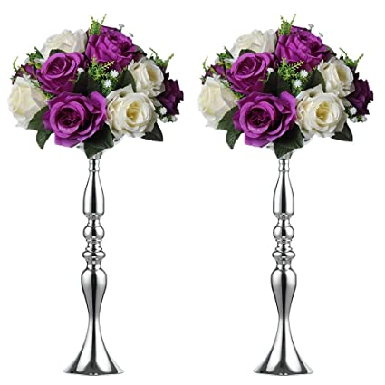 Amazon 2 Pieces 50cm Height Metal Candle Holder Candle Stand