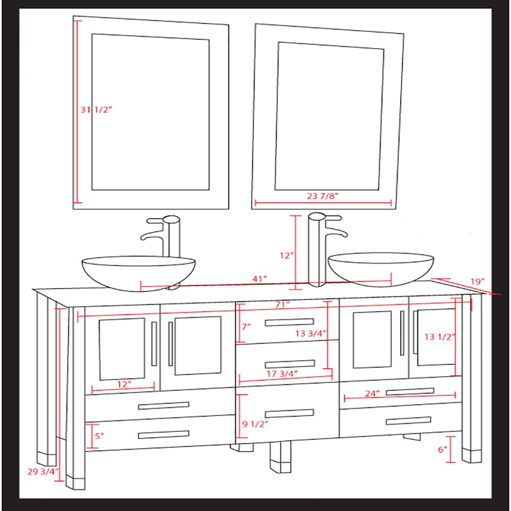 Standard height for bathroom mirror - Standard Height For Bathroom Mirror 24