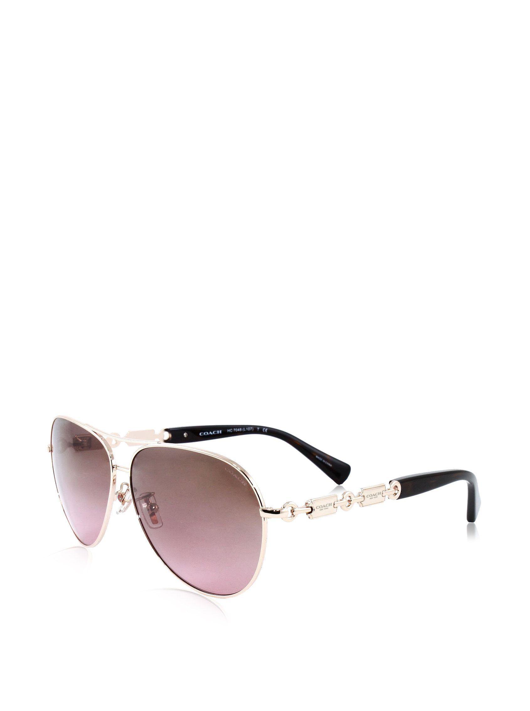 COACH Women's 0HC7048 Gold/Tortoise Sunglasses