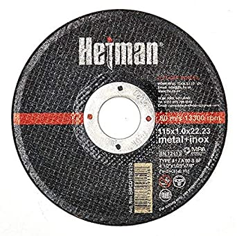 HETMAN - Disco de corte de metal (115 x 1,0 x 22,2 mm, 50 ...