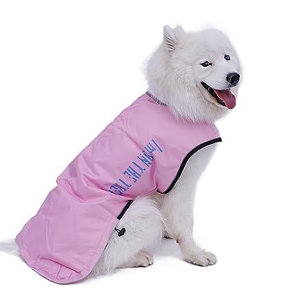 Kimol Windproof Dog Cold Weather Coat Winter Pet Clothes Cape Waterproof, Canvas (Color :