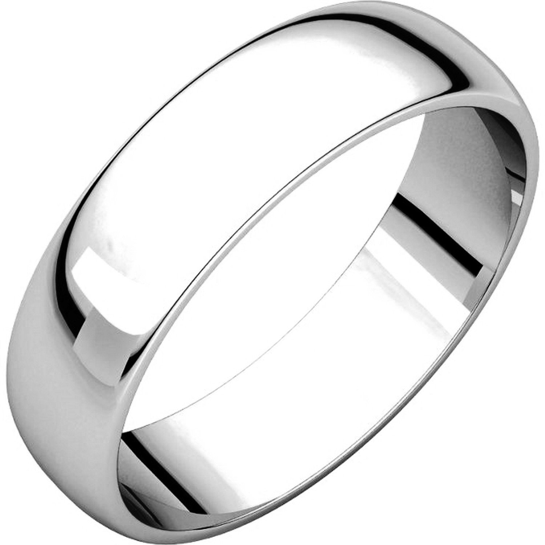 Men's and Women's Platinum, 5mm Wide, Plain Wedding Band - Size 9.5