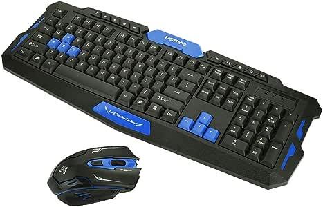 Richer-R Teclado y Ratón Inalámbrico,Portátil Mouse y Keyboard ...