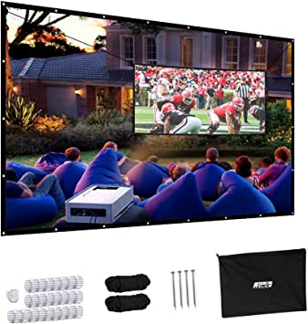 "120/"" 16:9 Portable Projector Screen Projection HD Home Theater Movie"