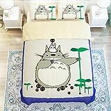 Cartoon My Neighbor Totoro Bedding Sets - Sport Do Ultra Soft Children Favorite Gifts Flat Sheet 4PC Full