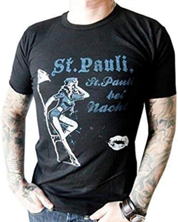 Kiezkicker Camiseta de Hombre st Pauli Negro: Amazon.es: Ropa y ...