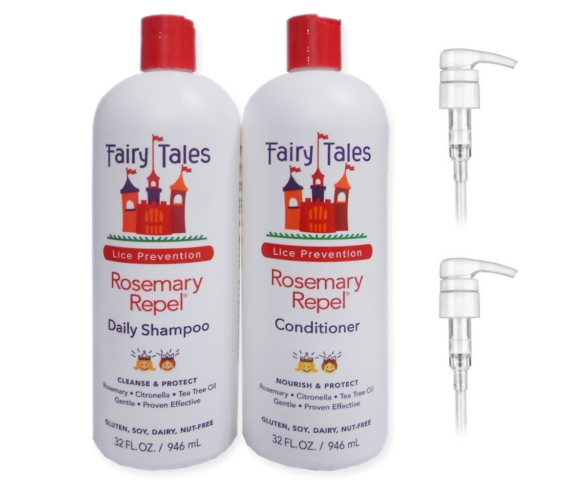 Fairy Tales Rosemary Repel Shampoo & Repel Conditioner 32 oz. Refill Bottles with 2 Pumps