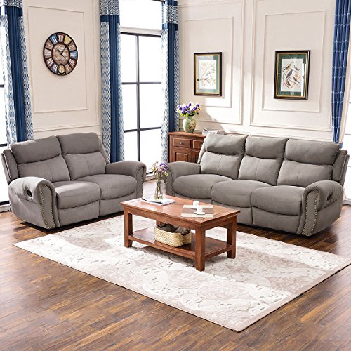 Harper & Bright Designs Sectional Sofa Set Including Chair, Loveseat 3-Seat Sofa Recliner (Loveseat & 3-Seat ()