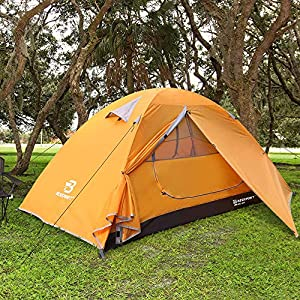 Bessport Camping Tent 1 and 2 Person Lightweight Backpacking Tent Waterproof Two Doors Easy Setup Tent for Outdoor…