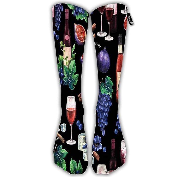 Amazon.com: Calcetines altos hasta la rodilla para hombres y ...